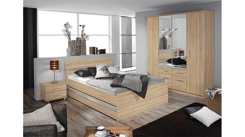 Bett APULIEN Schlafzimmerbett Sonoma Eiche sägerau 140 cm