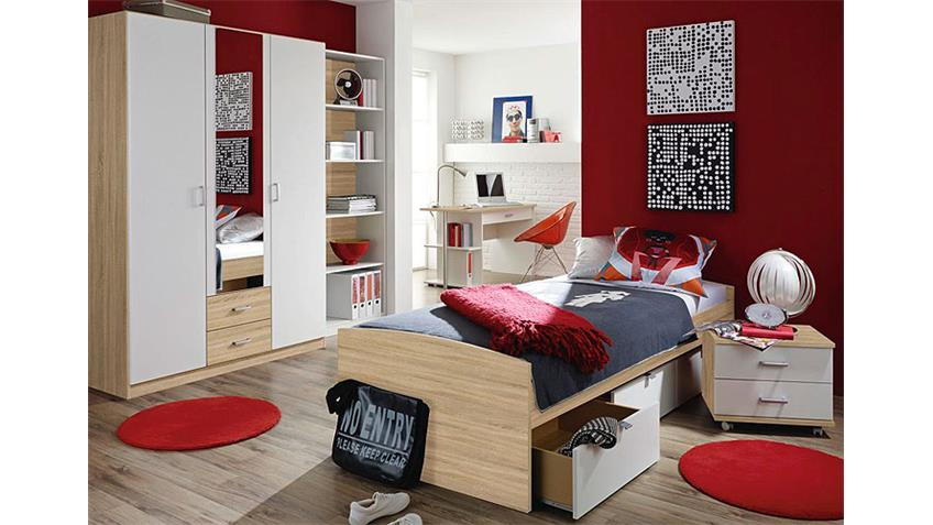 rollcontainer point sonoma eiche s gerau wei. Black Bedroom Furniture Sets. Home Design Ideas