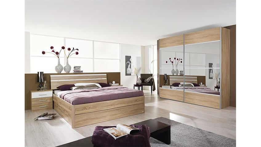 schlafzimmerset iii rasa sonoma eiche s gerau wei. Black Bedroom Furniture Sets. Home Design Ideas