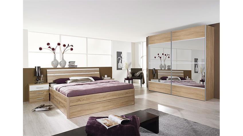 Schlafzimmerset III RASA Sonoma Eiche Sägerau Weiß