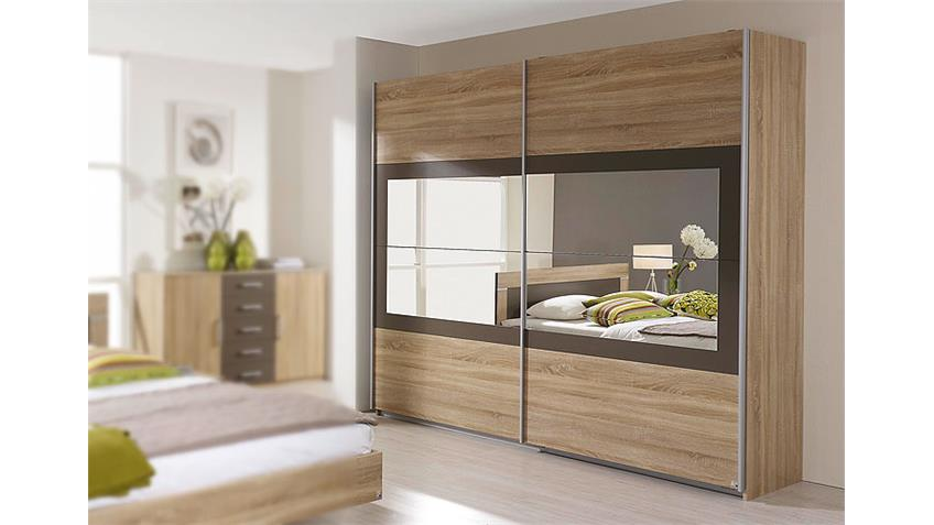 schwebet renschrank venlo sonoma eiche lavagrau spiegel 226. Black Bedroom Furniture Sets. Home Design Ideas