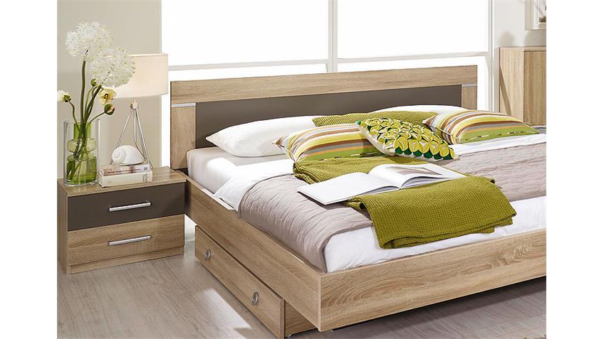 Schlafzimmerset VENLO Sonoma Eiche Sägerau Lavagrau