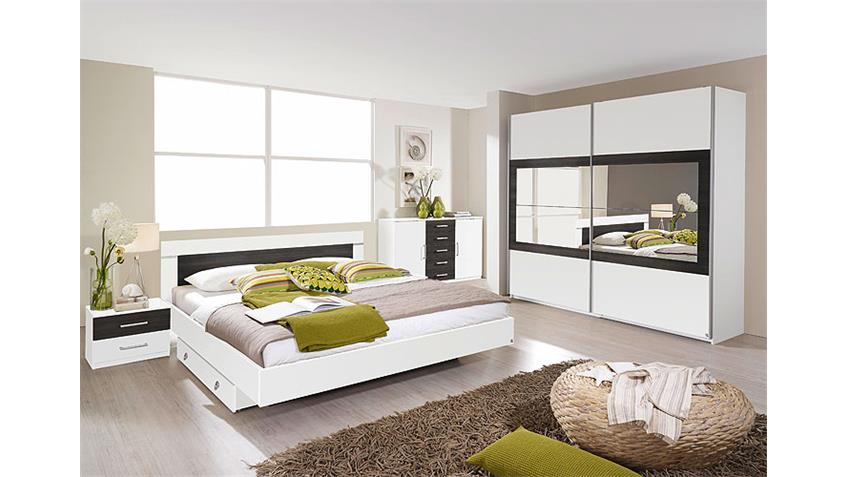 Schlafzimmerset VENLO Schlafzimmer in weiß Wenge Shiraz