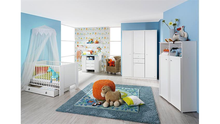 Babyzimmer Set LENI komplett Kinderzimmer in weiß 5 teilig