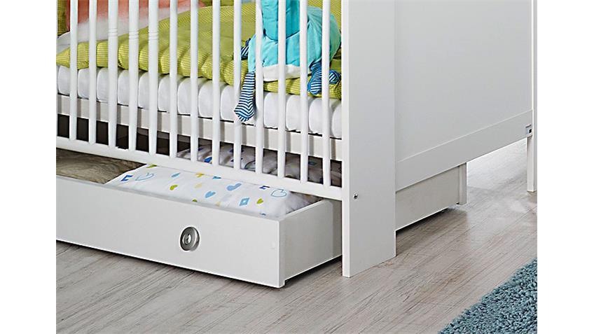 Babyzimmer Set LENI komplett Kinderzimmer in weiß 9 teilig