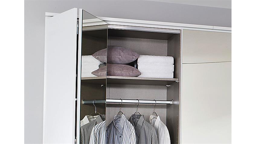 Kleiderschrank ELLWANGEN weiß Hochglanz B 226 H 212cm