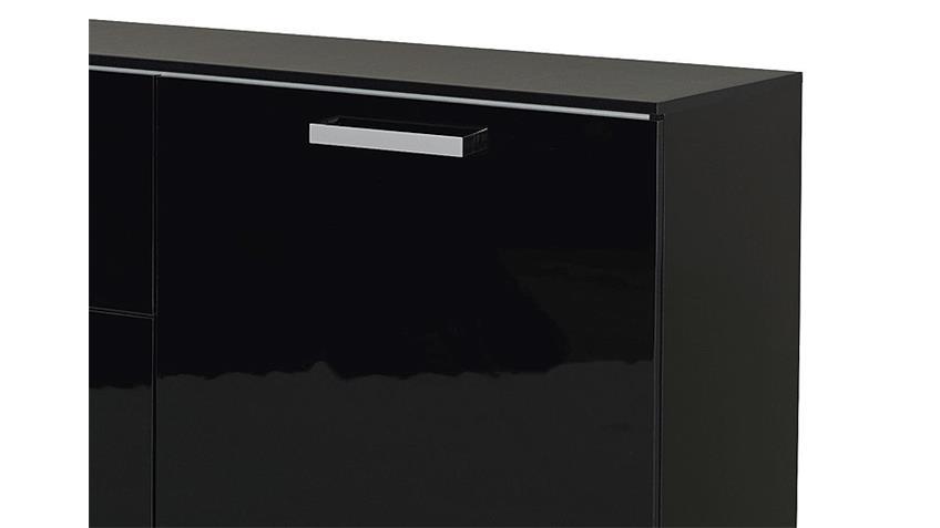 Kommode CALERO III schwarz Front Hochglanz