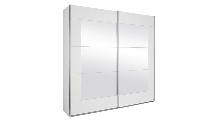 Schwebetürenschrank ALEGRO Weiß mit Spiegel 226
