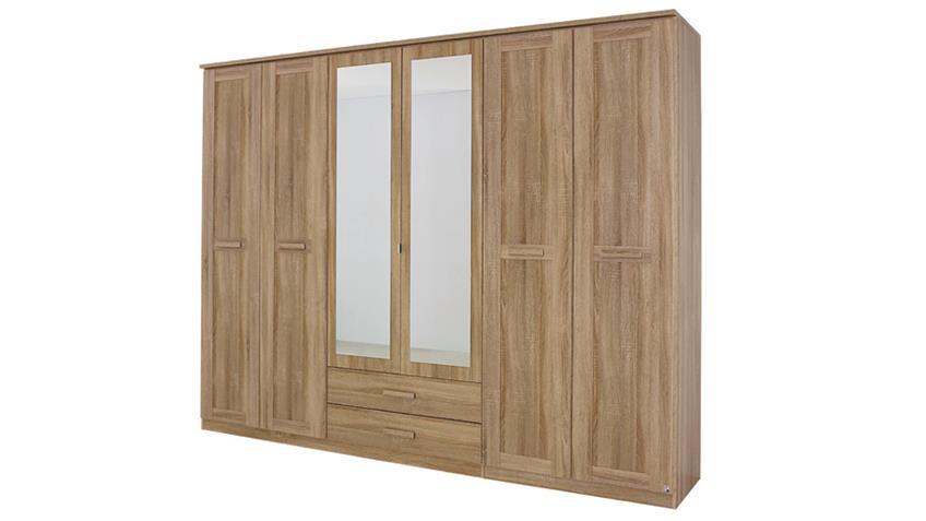 kleiderschrank utrecht sonoma eiche mit spiegel. Black Bedroom Furniture Sets. Home Design Ideas