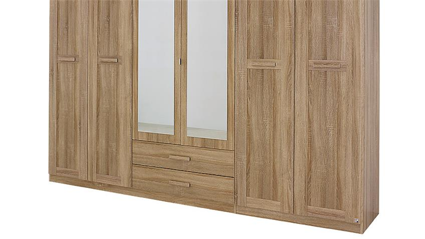 Kleiderschrank UTRECHT Sonoma Eiche mit Spiegel