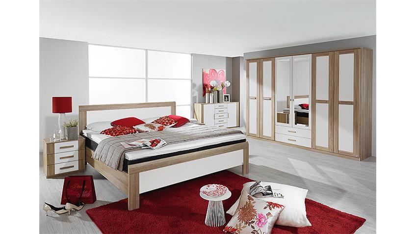 Schlafzimmer UTRECHT Schlafzimmerset in Sonoma Eiche weiß