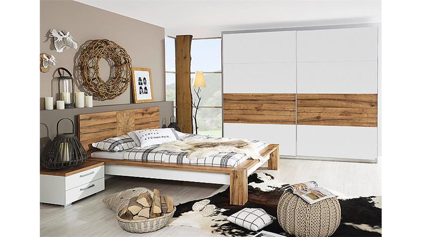 Schlafzimmer I DAVOS Wildeiche Graphit Spiegel