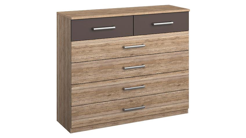 kommode barcelona wei san remo eiche hell lavagrau. Black Bedroom Furniture Sets. Home Design Ideas