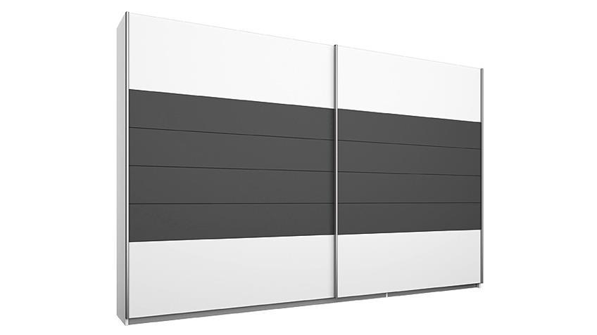 Schlafzimmerset BARCELONA Weiß Grau-Metallic