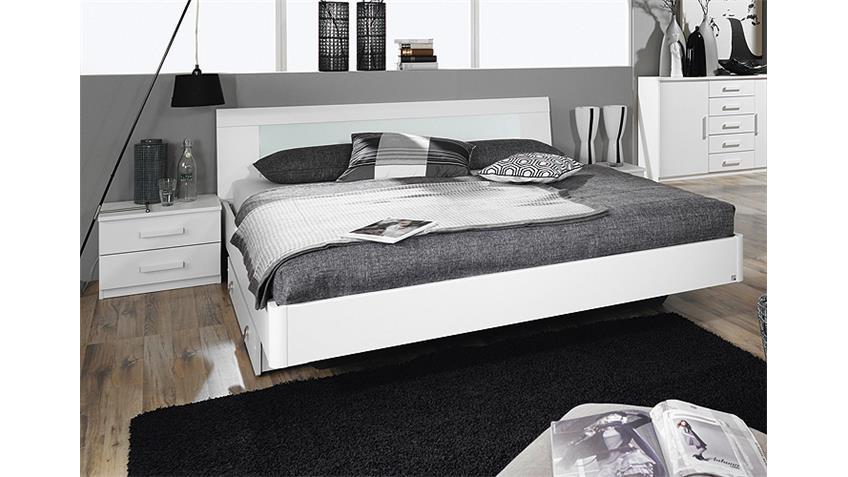 Bettanlage NARBONNE Schlafzimmer in weiß Dekor 160x200 cm