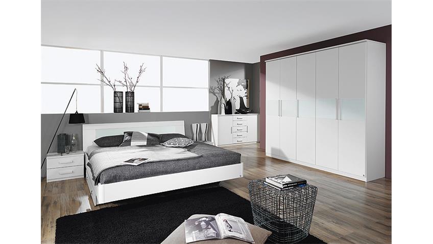Bettanlage NARBONNE Schlafzimmer in weiß Dekor 180x200 cm