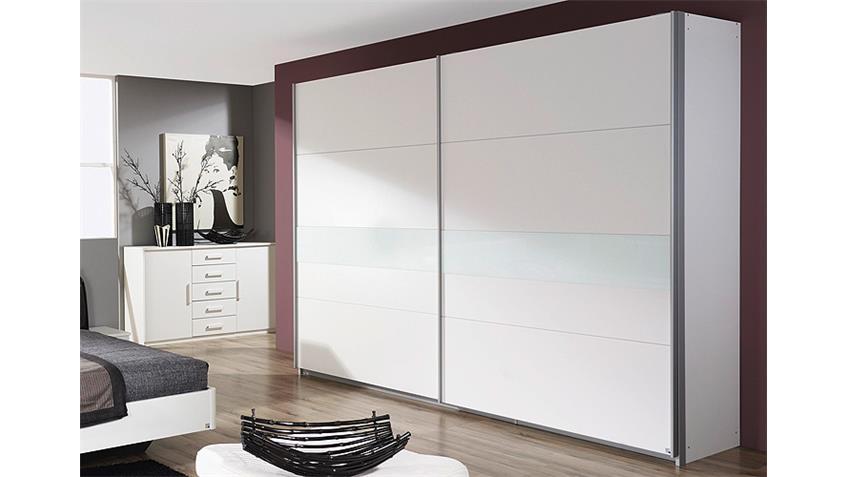Schwebetürenschrank NARBONNE Kleiderschrank in weiß 226 cm