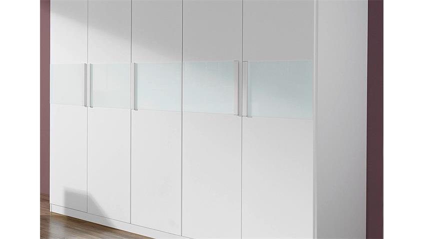 Schlafzimmer NARBONNE Bett Kleiderschrank Nako in weiß