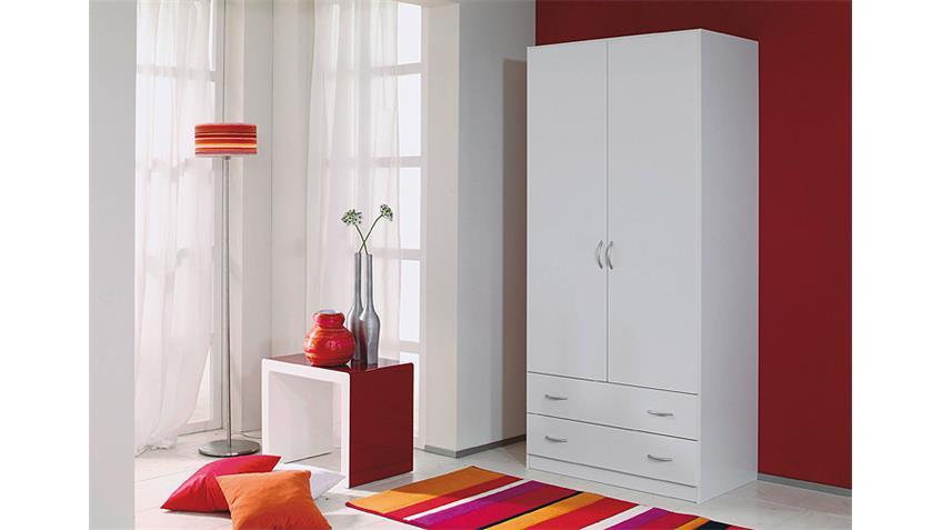 Kleiderschrank CASE Schrank Drehtürenschrank in weiß 91 cm