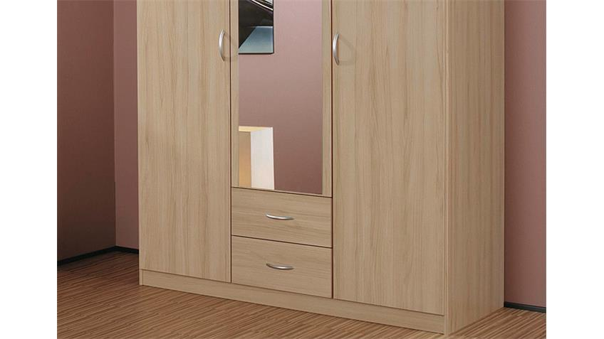 Kleiderschrank CASE Schrank Buche natur mit Spiegel 136 cm