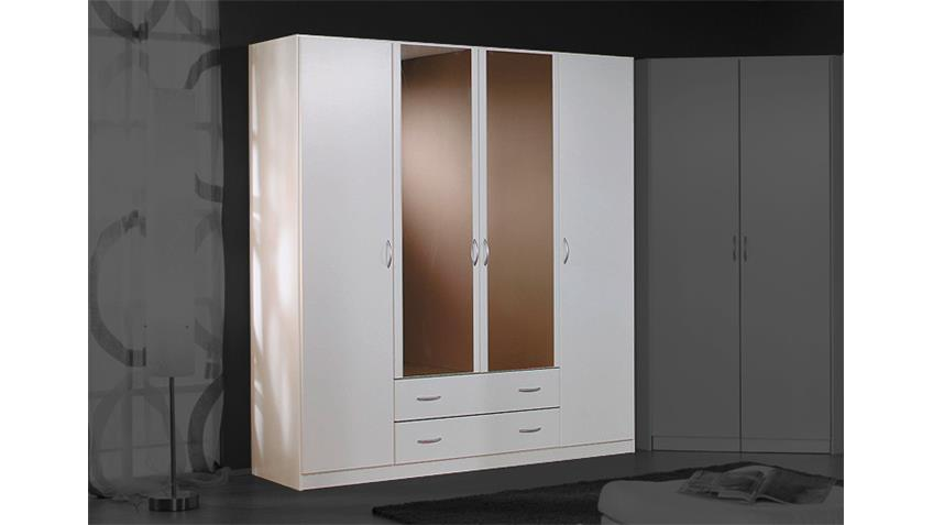 kleiderschrank case schrank in wei mit spiegel 181 cm. Black Bedroom Furniture Sets. Home Design Ideas