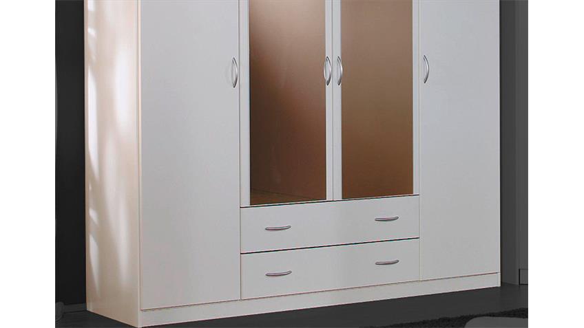 Kleiderschrank CASE Schrank in weiß mit Spiegel 181 cm