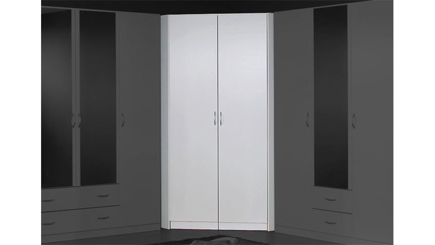 Eckschrank CASE Kleiderschrank Schrank in Alpinweiß 117 cm