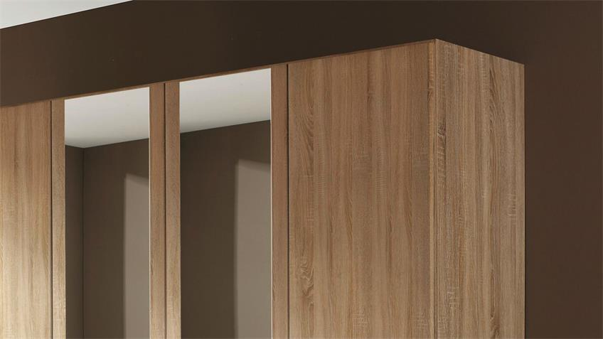 Kleiderschrank AALEN Eiche Sonoma mit Spiegel 181 cm