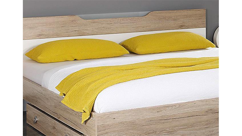 Schlafzimmer-Set CARTAGENA San Remo Eiche hell Weiß