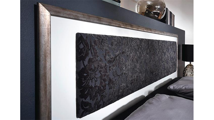 Schlafzimmer TAYA Weiß Schwarz Antik Silber