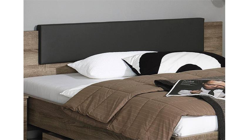 Bett CHOLET Schlafzimmerbett in Havanna Eiche 160x200 cm
