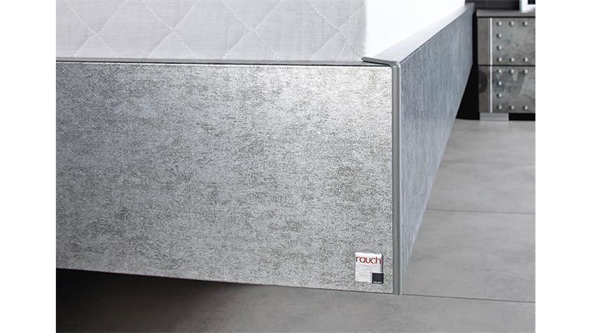 Bett WORKBASE Schwarz Alu Silber Industrieoptik 180