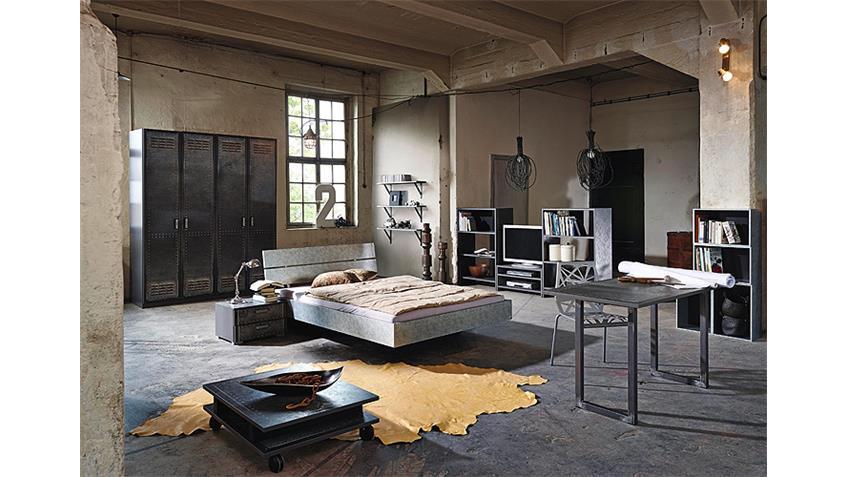 Schlafzimmerset 6 WORKBASE Industrieoptik Graphit