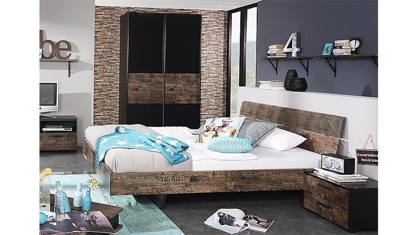 jugendzimmer set sumatra schwarz vintage braun. Black Bedroom Furniture Sets. Home Design Ideas