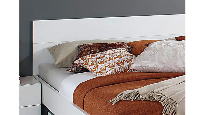 Bettanlage LORCA Weiß Hochglanz 180x200 cm