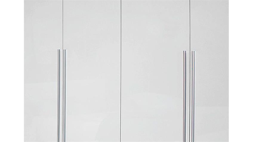 Kleiderschrank LORCA Weiß Hochglanz B 226 cm