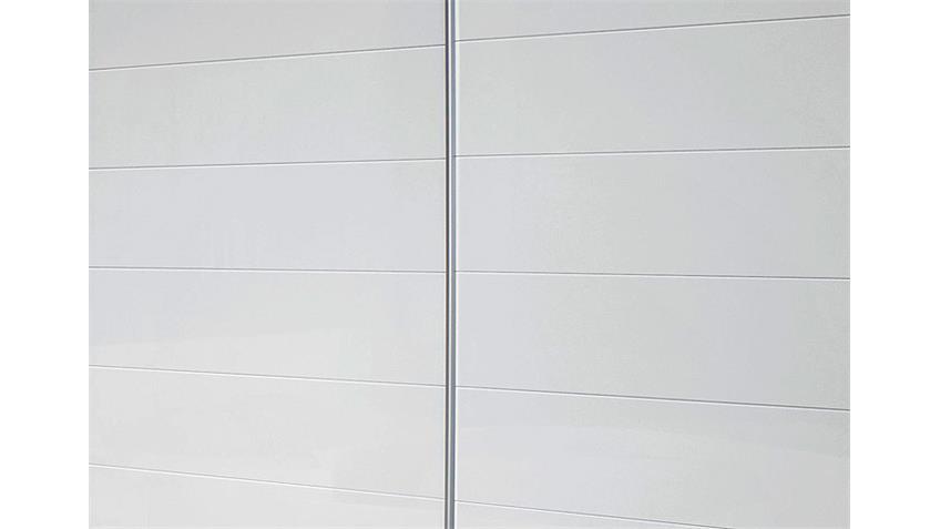 Schwebetürenschrank LORCA Weiß Hochglanz B 226 cm