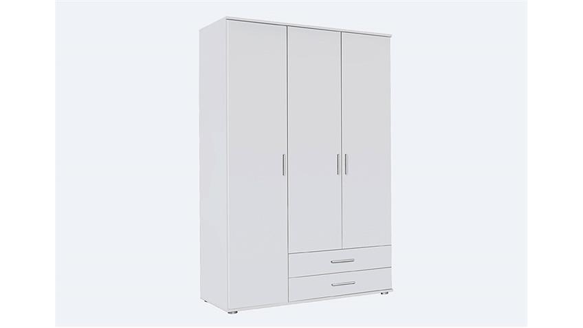 Kleiderschrank RASANT Schrank in weiß 127x188x52 cm
