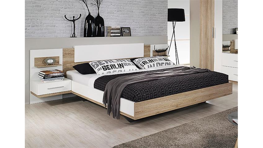 Schlafzimmer-Set BUSTAS Eiche Sanremo hell und Weiß