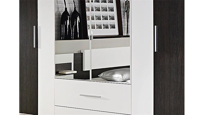 Kleiderschrank BUSTAS Wenge und Weiß B 226 cm