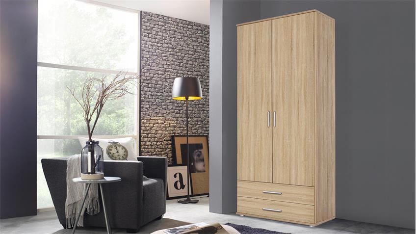 kleiderschrank rasant eiche sonoma b 85 cm. Black Bedroom Furniture Sets. Home Design Ideas