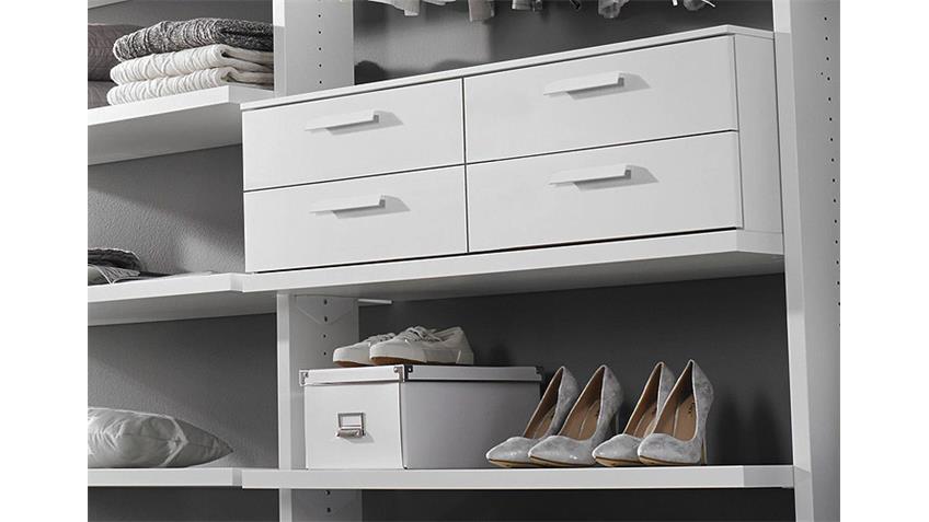 Regalkombi MYLOFT Kleiderschrank Regal weiß Breite 289 cm