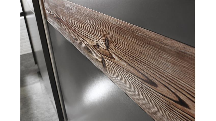 Schwebetürenschrank BAYAMO Graphit Lärche natur B 270 cm
