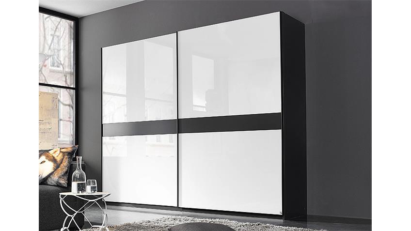 schwebet renschrank bayamo schwarz glas wei b 225 cm. Black Bedroom Furniture Sets. Home Design Ideas
