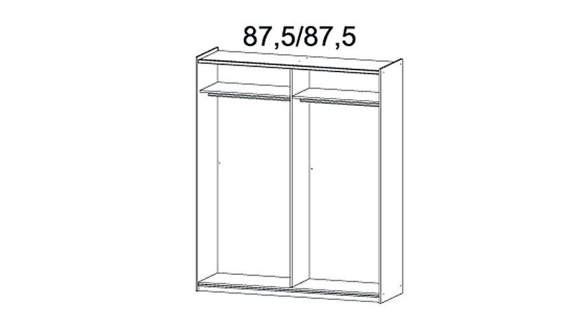 Schwebetürenschrank ALMADA Weiß Lavagrau B 175 cm
