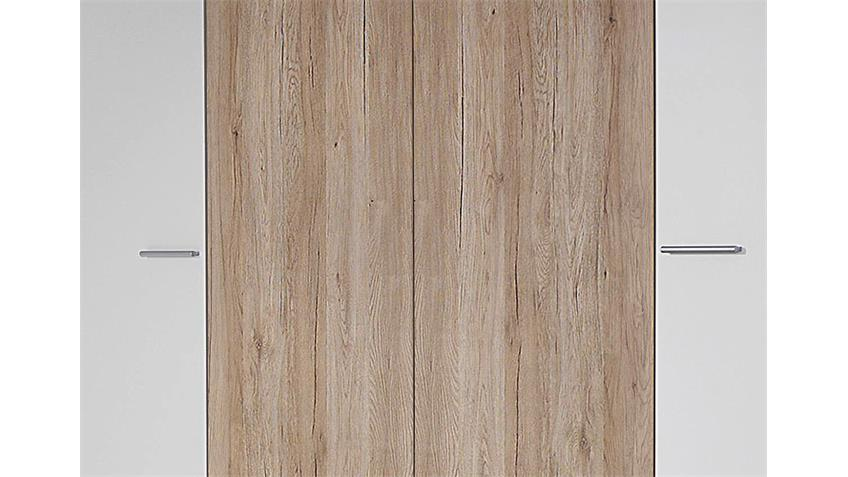 Kleiderschrank ALMADA Weiß Eiche Sanremo hell B 218 cm