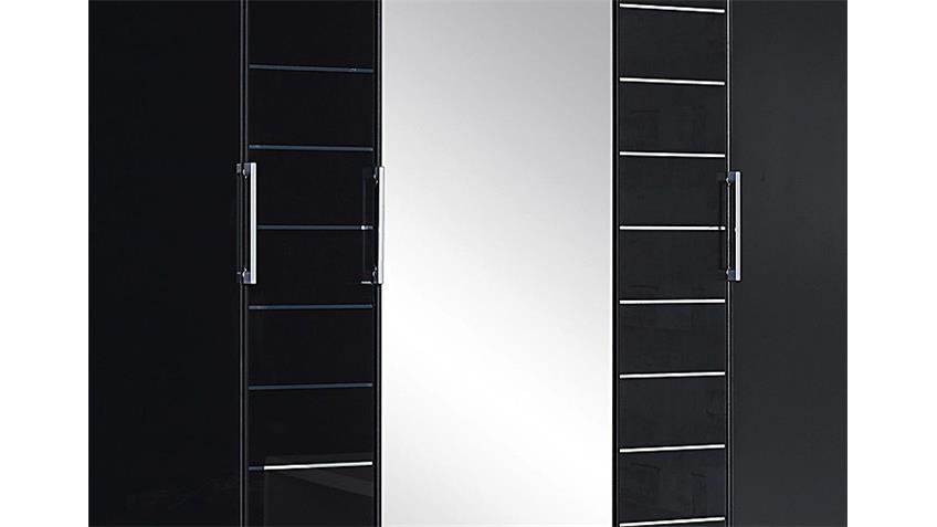 Kleiderschrank TELDE Grau-Metallic Glas Basalt B 181 cm