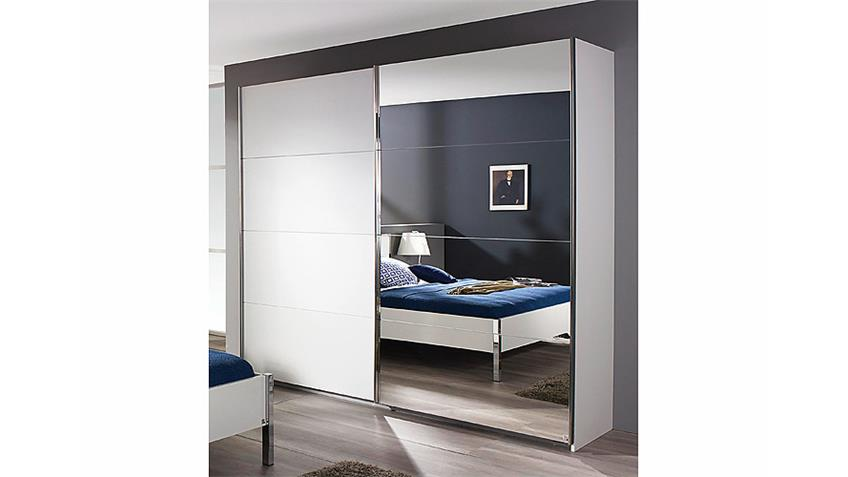 schwebet renschrank moita in wei mit spiegel b 271 cm. Black Bedroom Furniture Sets. Home Design Ideas