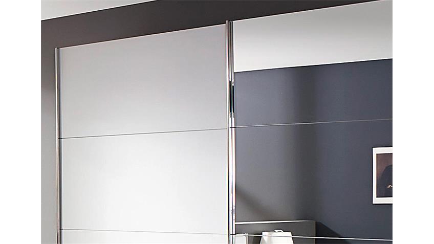 Schwebetürenschrank MOITA in Weiß mit Spiegel B 271 cm
