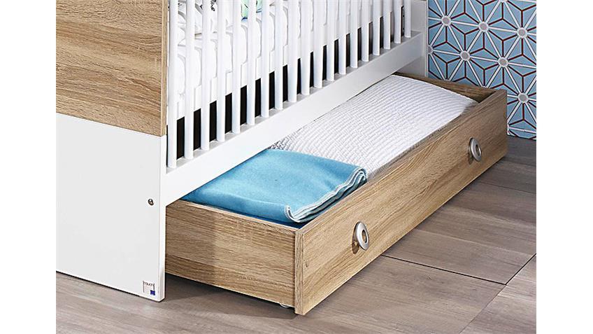 Rollbettkasten INDIRA für Babybett Eiche Sonoma